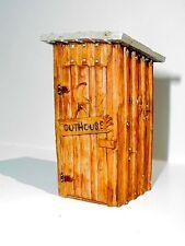 Outhouse Miniature Custom Rustic 1/24 Scale G Scale Diorama Accessory Item