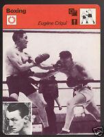 EUGENE CRIQUI French Boxing Boxer vs Johnny Kilbane 1978 SPORTSCASTER CARD 38-02