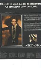 PUBLICITE 1976   MIKIMOTO les plus belles perles du monde