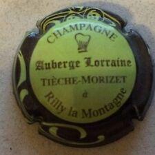 Capsule de champagne TIECHE-MORIZET Auberge Lorraine (12b. vert pâle ctr marron)