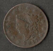 USA grandi dimensioni in rame un centesimo Nvf 1817 con 13 stelle