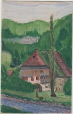 NIEDERWASSEN TRIBERG Germany Hand Painted HOUSE Black Forest Colour PC 1922
