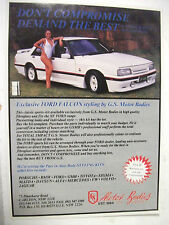 GS MOTOR BODIES FORD XF FALCON FULLPAGE COLOUR MAGAZINE ADVERTISEMENT