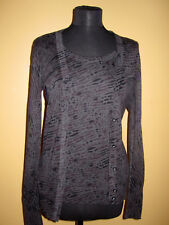 Gap  Set Of 2 Top And Cardigan - Black/Grey /Patterned size S/M