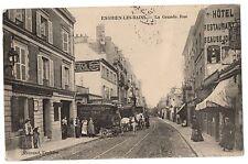 CPA 95 - ENGHIEN LES BAINS (Val d'Oise) - La Grande rue (animée, attelage...)