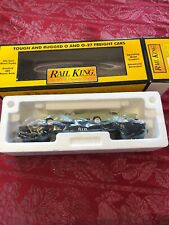 MTH RailKing Auto Transport Flat car with 2 T'Birds 7613 New