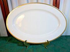 Beautiful St. Nicholas Square Laurel Gold Large Oval Serving Platter