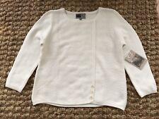 Habitat White Cotton Sweater.Size M.NWT.