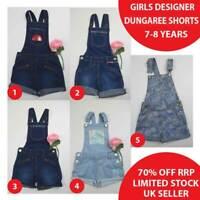Girls Denim Dungaree Shorts Dungarees 7-8 Years Brand New 50% OFF(DS7-8-B)