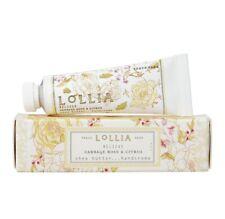 New Lollia Believe Cabbage Rose Citrus Shea Butter Hand Cream Tube Box 1.25 oz