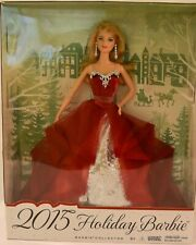 """Holiday Barbie 2015 • new • box is 13"""" x 10.5"""" x 3"""""""