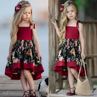 Toddler Girl Floral Princess Dress Infant Baby Party Sweet Fancy Sundress Outfit