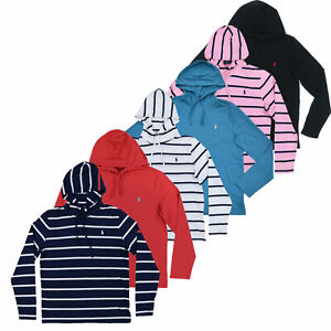 Polo Ralph Lauren Mens Hooded T-Shirt Long Sleeve Hoodie Tee S M L Xl Xxl New