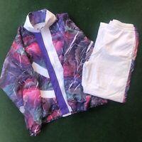 Vintage 90s San Francisco Bay Wear Matching Track Suit Jacket Pants Windbreaker