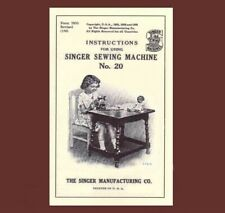 Singer 20 toy child sewing machine MANUAL INSTRUCTIONS (1936)