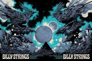 Billy Strings Art Show Poster Oakland Ken Taylor 9/9-9/10/21 Uncut Diptych XX/60