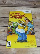 The Simpsons Game (gamebooklet,wii)