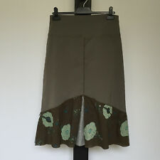 'THE ARK' EC SIZE 'M' GREEN ELASTIC WAIST WITH SEQUIN & EMBROIDERED TRIM SKIRT
