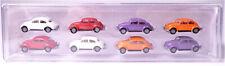 H0 BREKINA 8 x Volkswagen VW Käfer Set neue Farbzusammenstellung 2020 # 90457