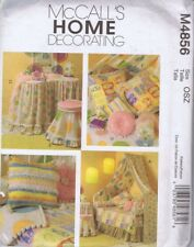 McCalls 4856 Sewing Pattern Home Decorating Bedroom Table Cloths Pillow Coverlet