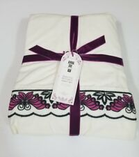 Pottery Barn Anna Sui Butterfly Sheet Set Full Ivory Purple