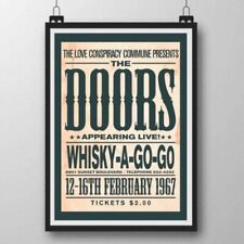 More details for the doors poster, jim morrison concert poster, whisky-a-go go poster, wall art