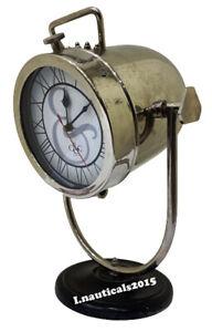Nautical timer Black Wooden Table clock Beautiful Designer Tripod Lamp Decor