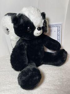Build A Bear Skunk W/Sertificate, Stuffed NWT