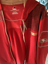Authentic Majestic Red & Gold San Francisco 49ers niners Jacket SF mens XL