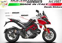 "Kit adesivi per Moto Ducati Multistrada 1260 Pikes-Peak""V667"""