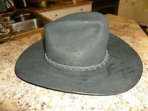 VINTAGE Black JOHN B STETSON 4X BEAVER XXXX COWBOY Rancher HAT 6 3/4