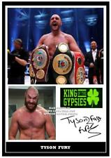 084. tyson fury boxing signed print size a4 +++++++
