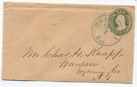 1850s 10 cent Nesbitt stamped envelope Petaluma CA to Warsaw NY