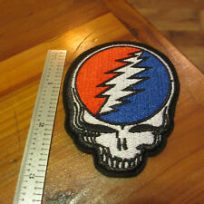 """GRATEFUL DEAD Embroidered Sew On/Iron On Patch; Classic 3"""" SYF 'Steal Your Face'"""