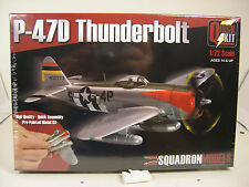 WWII P47D THUNDERBOLT 1:72 SCALE SQUADRON MODELS PRE PAINTED PLASTIC MODEL KIT