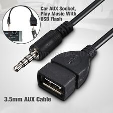 3.5mm Male AUX Audio Jack to USB 2.0 Type A Female OTG Adapter Connector Cable