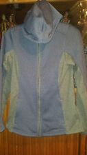 exOfficio THERMIQUE WOMEN HOODY/HOODIE SIZE XS(0/2) GRAY/BLUE ZIP FRONT/POCKETS