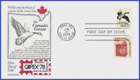 U #1757c U/A ARISTOCRAT FDC   Canada Goose