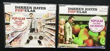 DARREN HAYES - POPULAR - AUSTRALIAN CD SINGLES 1 & 2 (REMIXES) - LIKE NEW - 2005