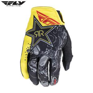 Fly Lite Adult Motocross Gloves Rockstar Black/White/Red Fast & Free UK Post