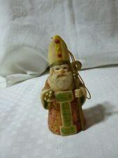 "Vintage RR Roman  Orthodox  Bishop bell ornament figurine  3 5/8"""