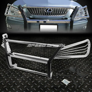FOR 04-09 LEXUS RX330/350/400H CHROME STAINLESS STEEL FRONT BUMPER GRILL GUARD