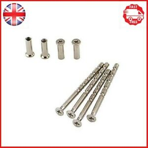 4 Piece Universal M4 Screw Connecting Bolts & Sleeves for Door Handle Roses and