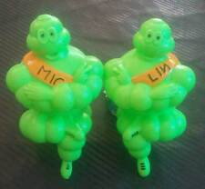 "2 x 6"" Green Michelin Man Bibendum Tires Figure Doll Sign Light Truck Advertise"
