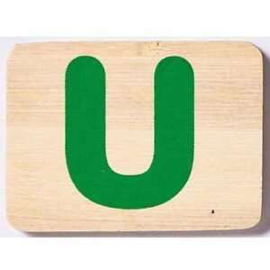 EverEarth Bamboo Name Train Letter Tablet - U