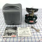 12/87 Vintage Coleman Model 508-700 Gas Stove w/ Gray Case Papers & Wrench