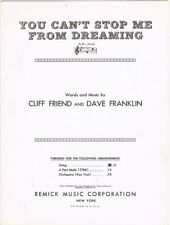 You Can't Stop Me from Dreaming, Black and White version, 1937, vintage music
