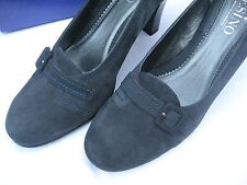 Esino Navy Suede High Heel Shoes Leather upper /sole  Size 8 UK 41.5 (EU) BNIB