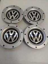 (SET OF 4) VW WHEEL CAPS FOR 9 &12  SPOKE ALLOYS.147mm.56-58mm FITTING