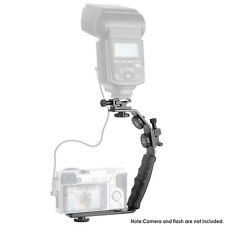 Neewer Camera Video L-Shape Flash Bracket With Dual Flash Cold Shoe Mount